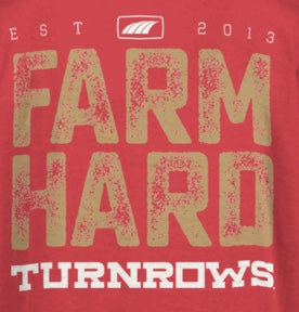 Turnrows Long Sleeve Farm Hard Shirt youth