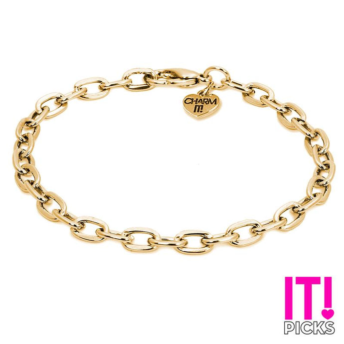 Charm It Charms Gold Chain Link Bracelet