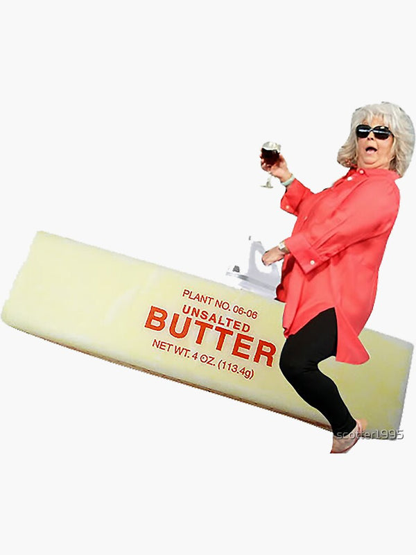 Paula Dean Riding Butter Sticker