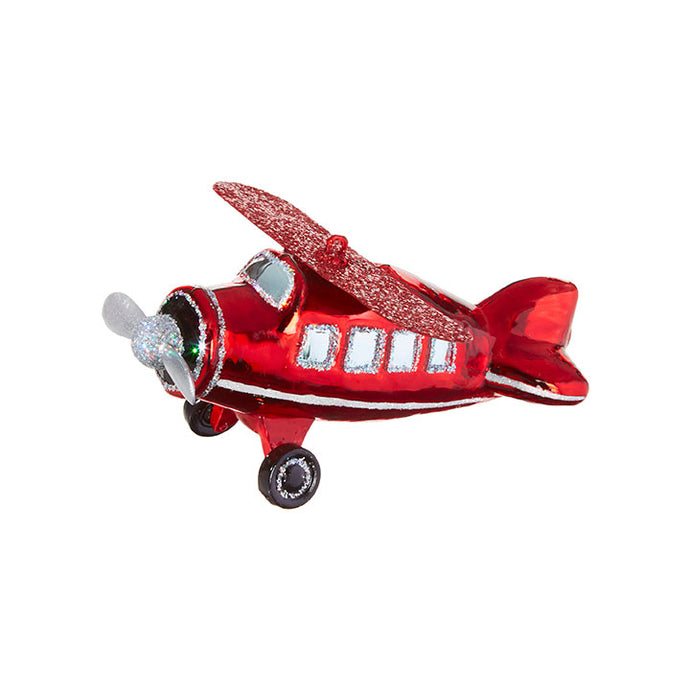 Raz Christmas Ornament Airplane