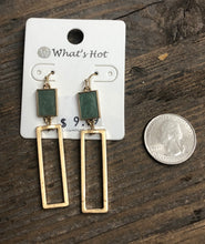 Rectangle Earrings (multiple colors available)