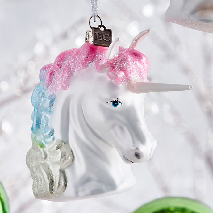 Raz Christmas Ornament Rainbow Unicorn