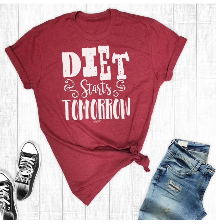 Diet Starts Tomorrow Short Sleeve Shirt