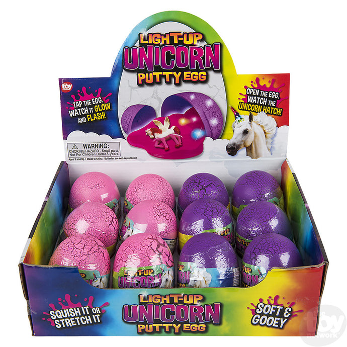 Light up Unicorn Putty Egg