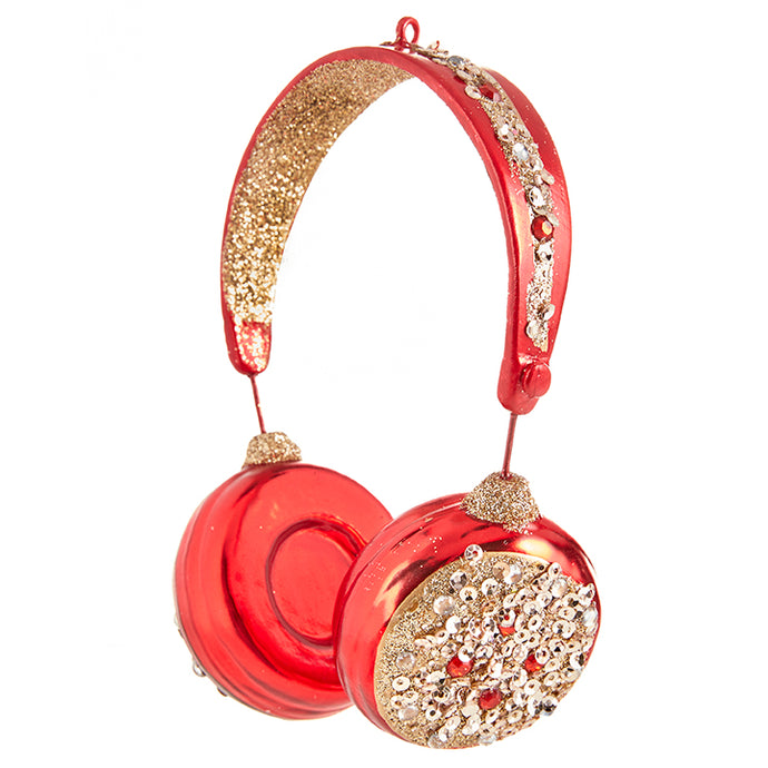 Raz Christmas Ornament Headphones