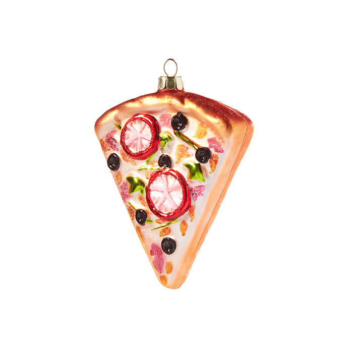 Raz Christmas Ornament Pizza