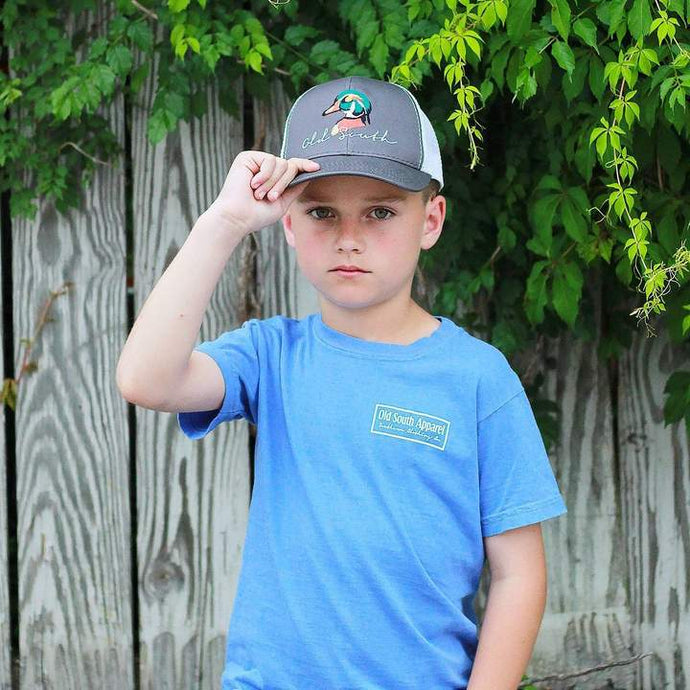 YOUTH Old South Wood Duck Trucker Mesh Hat