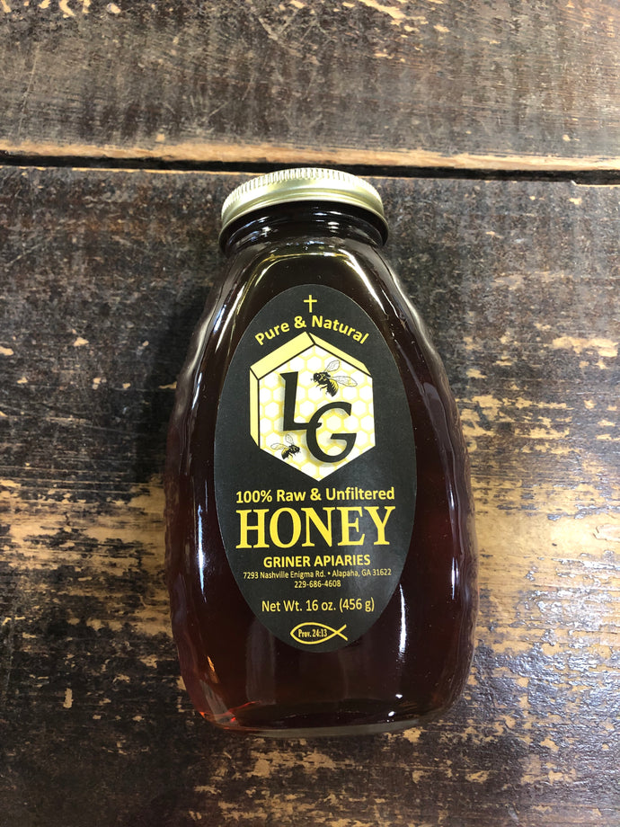 Griner Apiaries Honey 16oz
