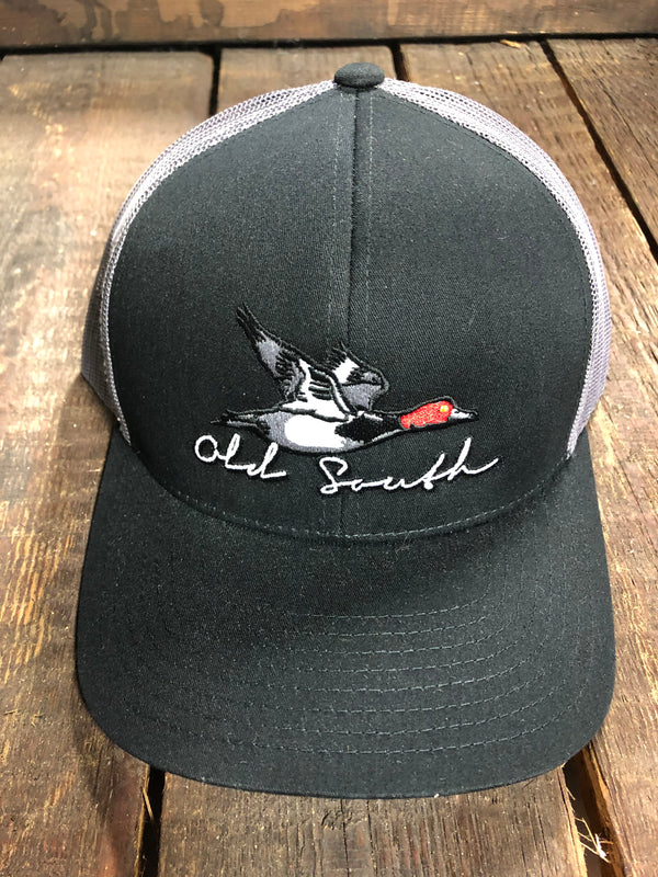 Old South RedHead Trucker Mesh Hat Black