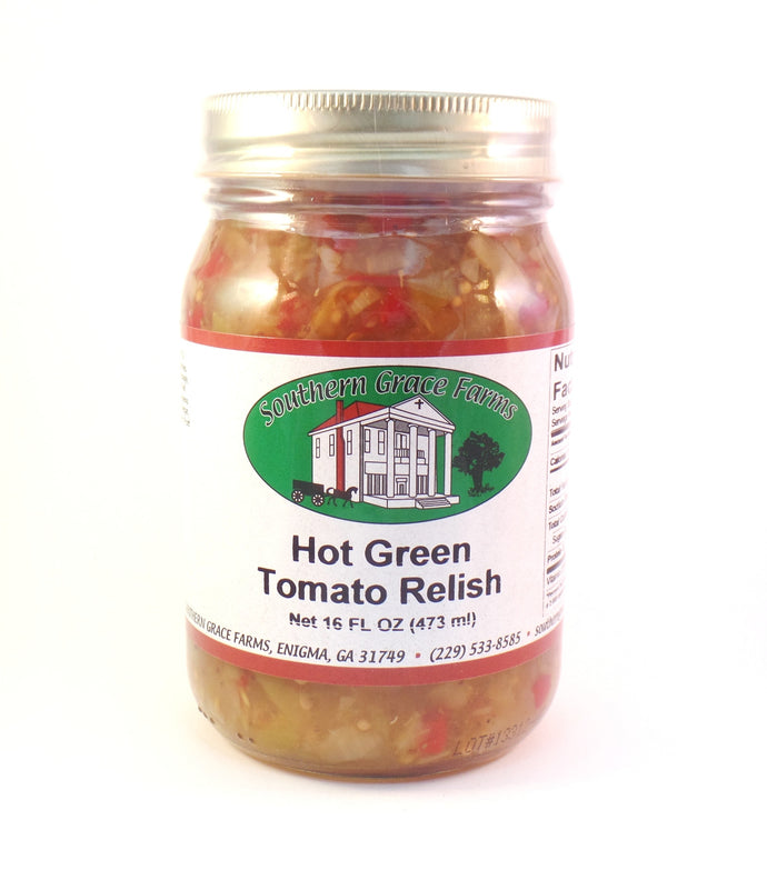 Hot Green Tomato Relish