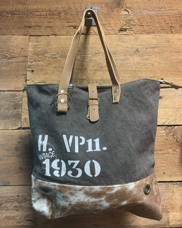 Myra Vintage 1930 Canvas Bag 1193