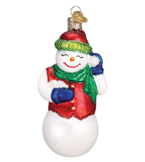 Old World Christmas Snowball Fight Snowman Ornament