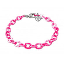 Charm It Charms Pink Chain Link Bracelet