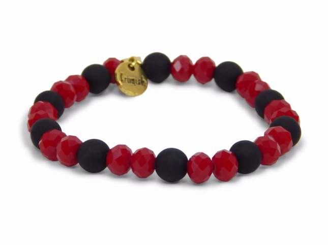 Kash Tuxedo Red & Black Erimish Bracelet Single
