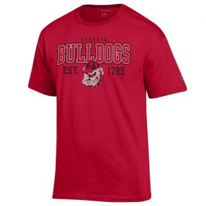 UGA Georgia Bulldog Established 1765 Short Sleeve Shirt