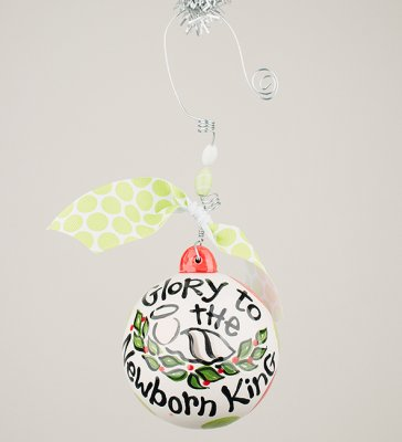 Glory Haus Glory to the New Born King Christmas Ornament