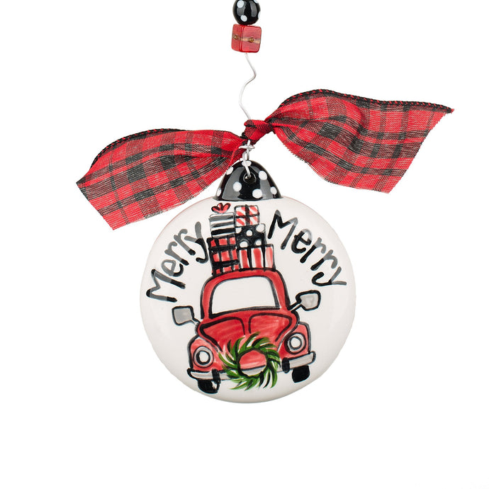 Glory Haus Merry Merry Christmas Car Puff Christmas Ornament
