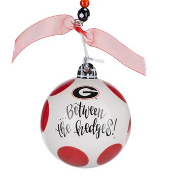Glory Haus UGA Georgia Collegiate Between the Hedges Christmas Ornament