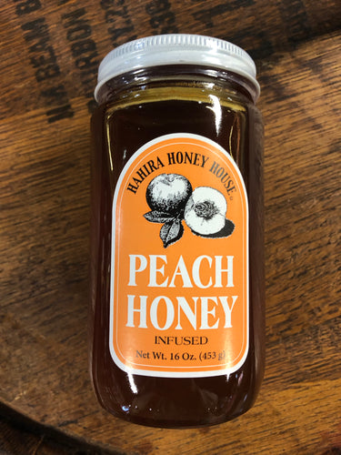 Hahira Honey House Peach Infused Honey 16oz
