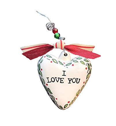 Glory Haus I Love You Heart Christmas Ornament