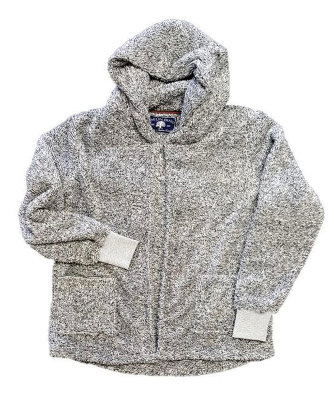 Live Oak Brand Pepper Gray Fleece Cardigan Hoodie Sale