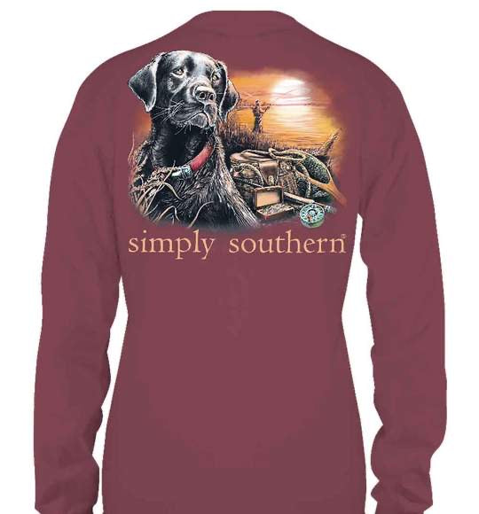Simply Southern Guys Lake Maroon Shirt