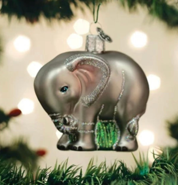 Old World Christmas Baby Elephant Ornament