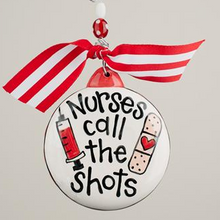 Glory Haus Nurses Call the Shots Christmas Ornament
