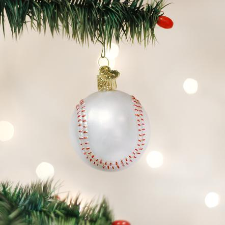 Old World Christmas Baseball Ornament