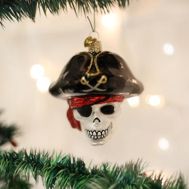 Old World Christmas Jolly Roger Pirate