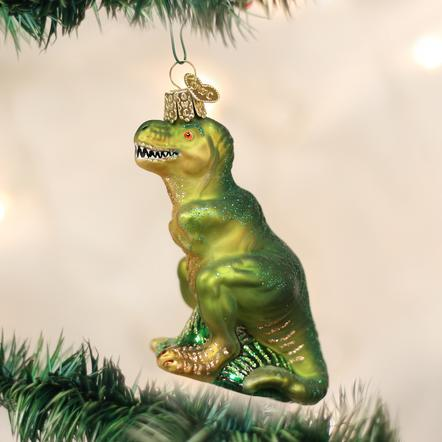 Old World Christmas T-Rex Dinosaur Ornament