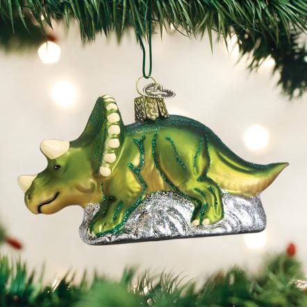 Old World Christmas Dinosaur Triceratops Ornament