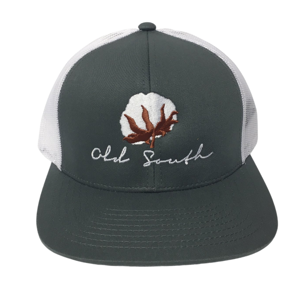 Old South Cotton Boll Trucker Mesh Hat Graphite