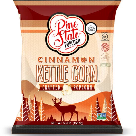 Pine State Popcorn, Cinnamon Kettle Corn, North Carolina Grown