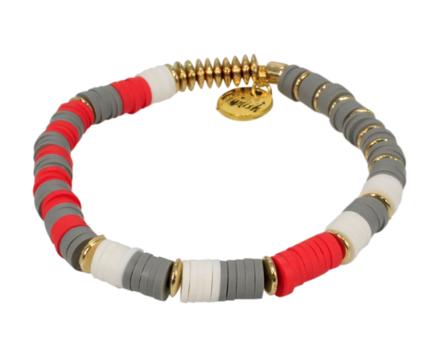 Ricki Red & Gray Erimish Bracelet Single