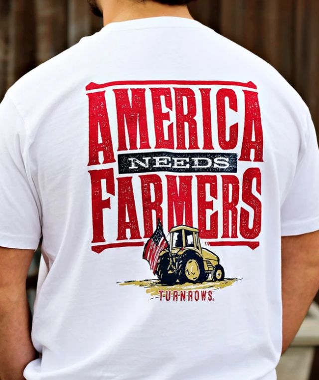 Turnrows America Needs Farmers Men's Shirt