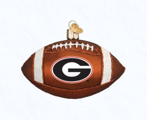 Old World Christmas UGA Georgia Bulldog Ornament Football