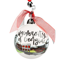 Glory Haus UGA Georgia Bulldogs Landmark Go Dawgs Christmas Ornament