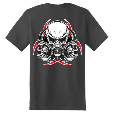 Diesel Life T-Shirt - Gas Mask Short Sleeve - Charcoal