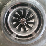 Billet Compressor Wheel 11 Blade Extended Tip Installed