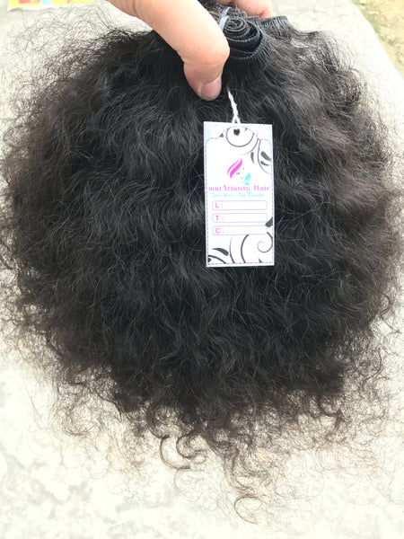 Virgin Indian Coarse Curly Bundles | Virgin Indian Curly Hair Weft Bundles
