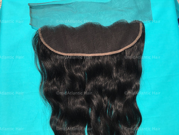 Virgin Indian Hair Wavy Lace Frontal
