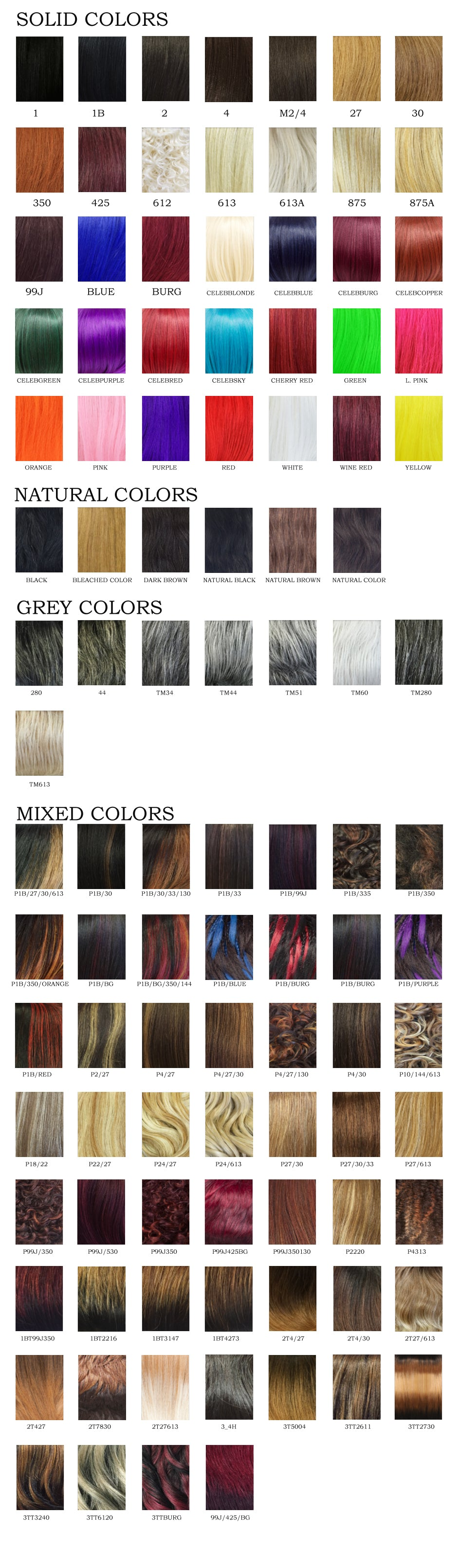 Its A Wig Color Chart Newyorkhairmall