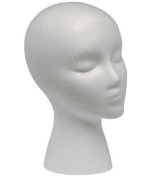 Giell Styrofoam Foam Mannequin Wig Head Display