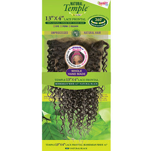Janet Collection Natural Temple Virgin Remy Hair 13X4 Lace Frontal - BOHEMIAN WAVE