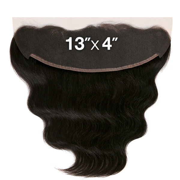 Saga Naked Brazilian Virgin Remy 13X4 Lace FRONTAL Closure - BODY WAVE 12""