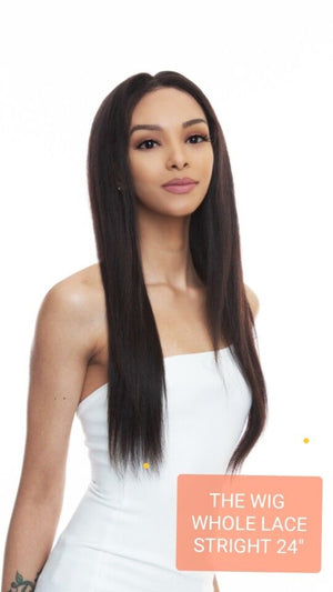 The Wig Black Pink 100% Brazilian Remy Whole Lace wig - HBL WL-STRAIGHT 24""