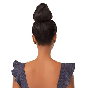 Sensationnel Instant Bun With Bangs Synthetic Drawstring Bun - BRIA