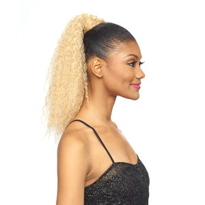 Vanessa Delta Cap Drawstring Ponytail With Bundle Wrap - DTB CHALY