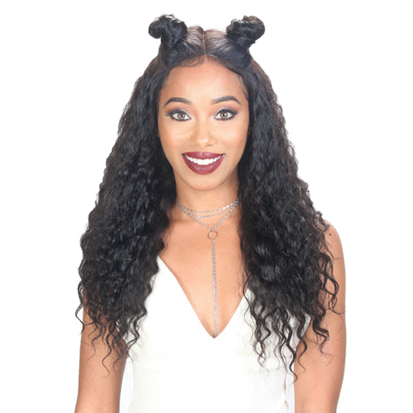 "Zury Hollywood Unprocessed Hair Custom 360 Whole Lace Wet & Wavy Wig 26"" - DEEP WAVE"